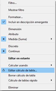 Editar el cálculos de tabla