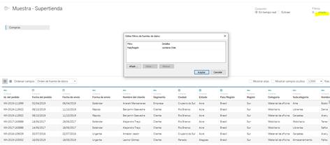 Tipos de filtro: Los filtros de base de dato se encuentran en nuestra página de fuente de datos