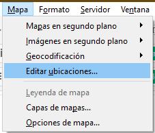 Editar ubicaciones en los mapas