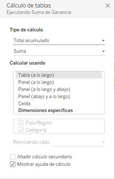 Configuración de tipo de cálculo de tabla